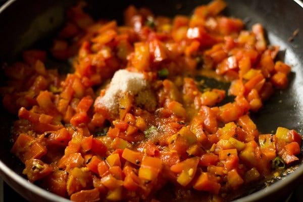making sev tameta nu shaak recipe