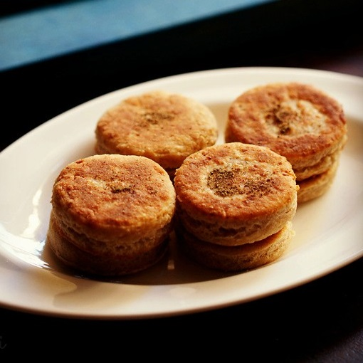 eggless cheese biscuits recipe
