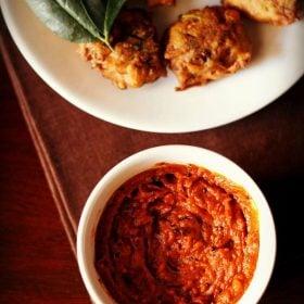 tomato chutney recipe, tomato chutney, tomato chutney for dosa idli