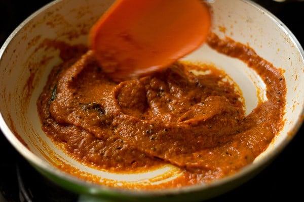 stir tomato chutney mixture