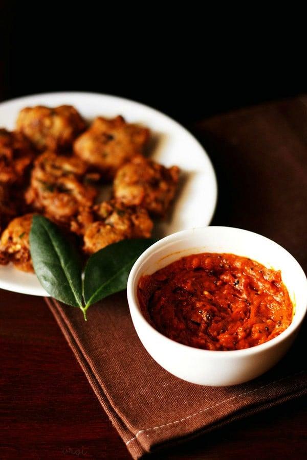 tomato chutney recipe, thakkali chutney recipe