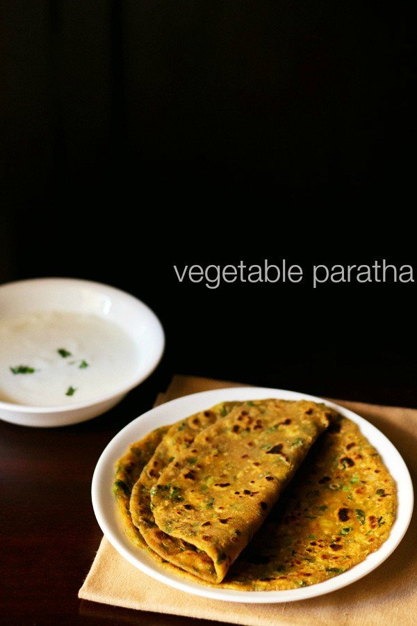 vegetable paratha recipe, how to make vegetable paratha recipe