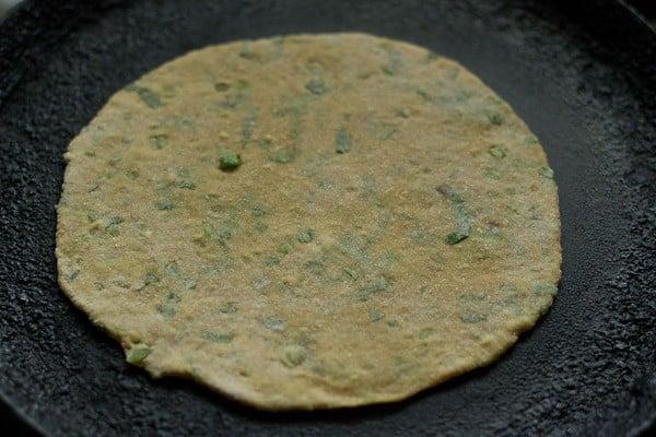 frying paratha - veg paratha recipe