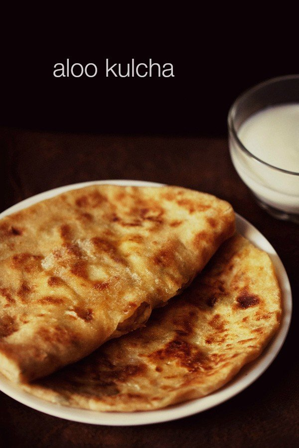 aloo kulcha recipe, how to make aloo kulcha recipe on tawa