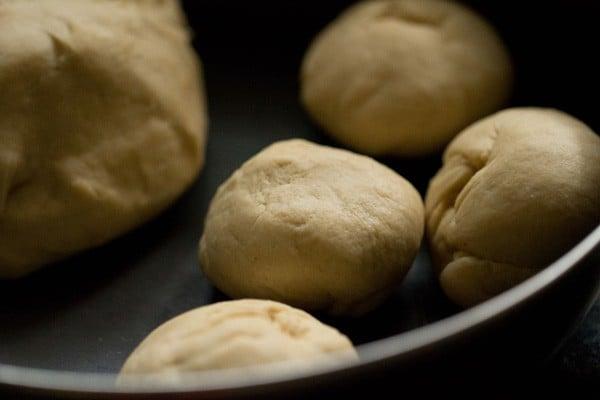 aloo kulcha dough balls