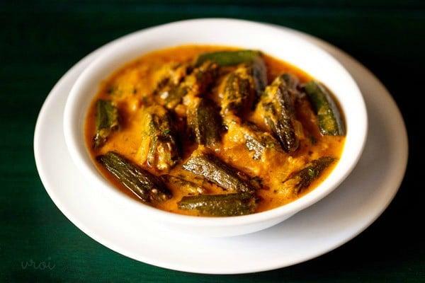 bhindi masala gravy recipe, bhindi masala recipe