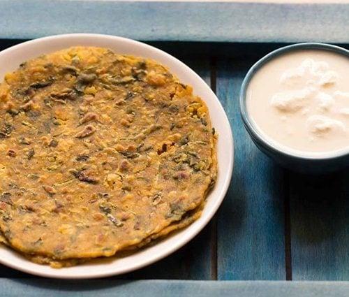 chana dal methi paratha recipe