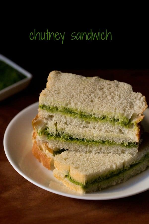 chutney sandwich recipe, how to make chutney sandwich recipe
