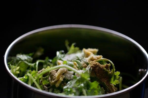 ingredients for green chutney recipe