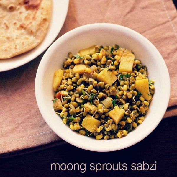 moong sprouts sabzi recipe | sprouts recipe