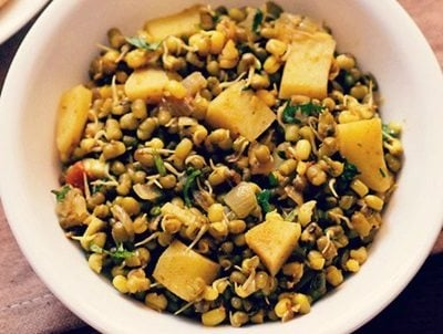 moong sprouts sabzi recipe