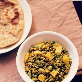 moong sprouts sabzi recipe, sprouts recipe
