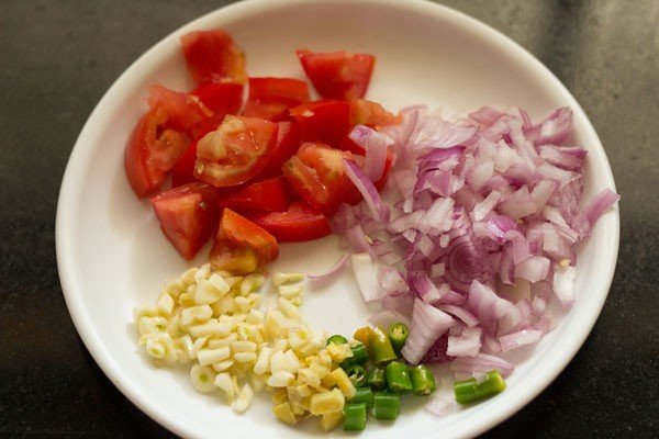 ingredients for moong sprouts sabzi