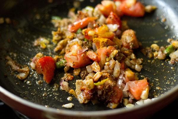 mix moong sprouts masala