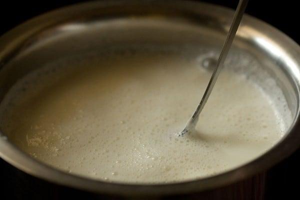 boiling milk for rasgulla recipe