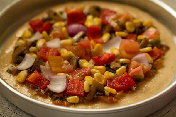 veggies for veg atta pizza recipe