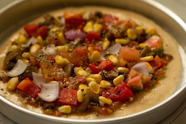 chillies for veg atta pizza recipe