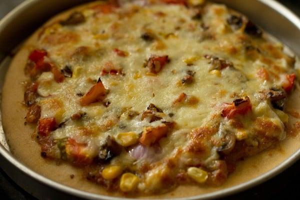 baked whole wheat veg pizza recipe