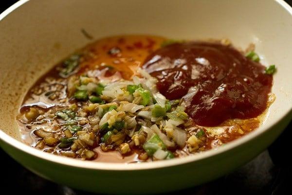 sauces for veg manchurian dry