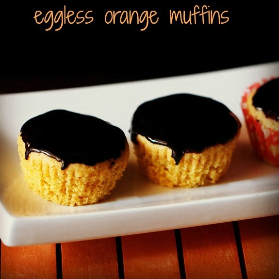 eggless orange muffins recipe