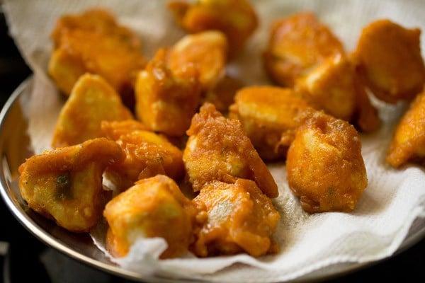 fried paneer for paneer 65 recipe