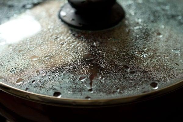 cooking red amaranth sabzi