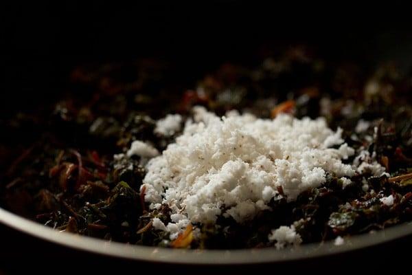 coconut for tambdi bhaji recipe