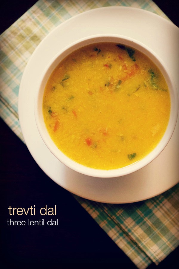 trevti dal recipe, how to make gujarati trevti dal recipe