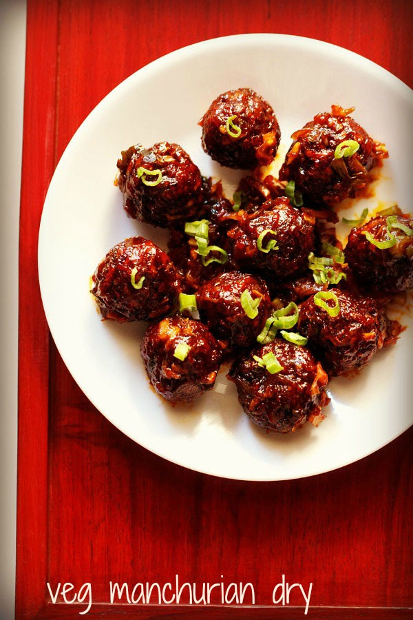veg manchurian dry recipe, how to make dry vegetable manchurian recipe