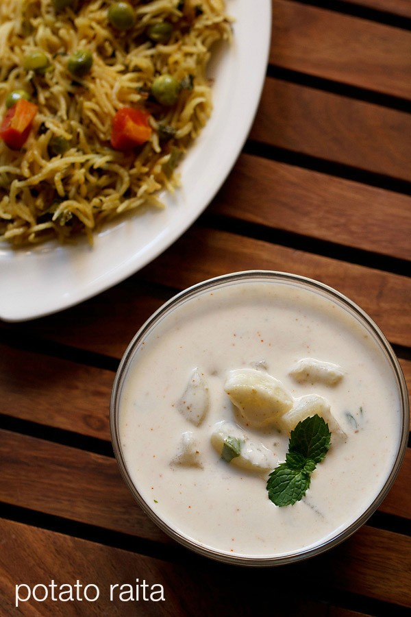 aloo raita recipe, potato raita