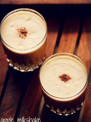apple milkshake, apple milkshake recipe