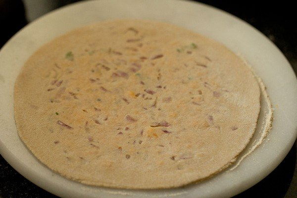 rolled cheese paratha