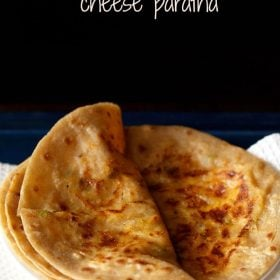 cheese paratha served in a plate