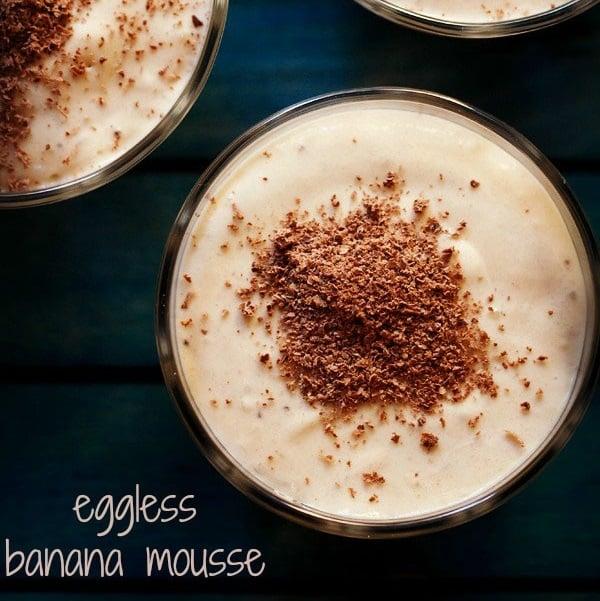 eggless banana mousse recipe