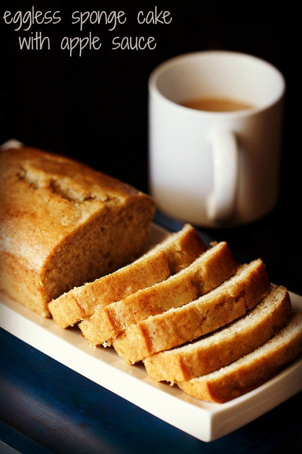 vegan sponge cake, applesauce cake