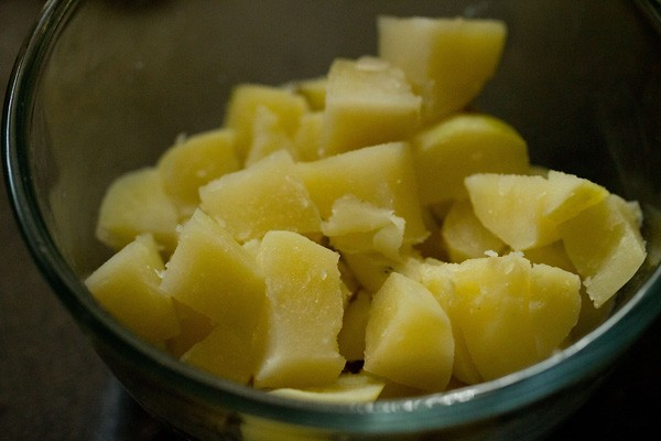 chopped aloo