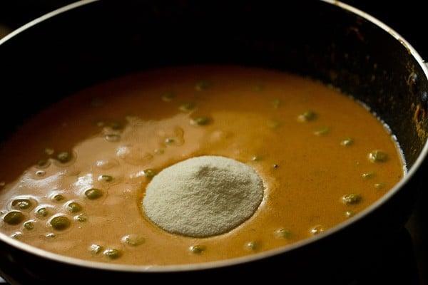 making green peas masala recipe
