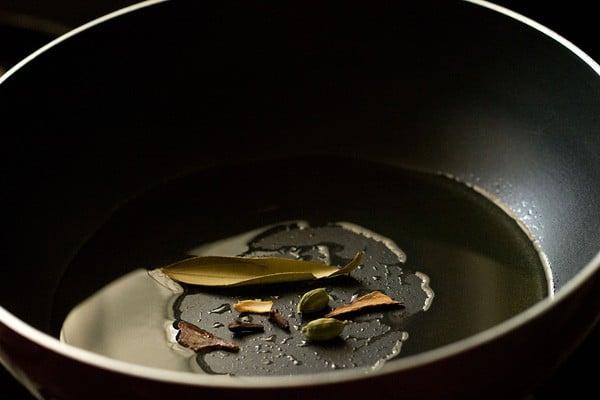 oil for green peas masala recipe