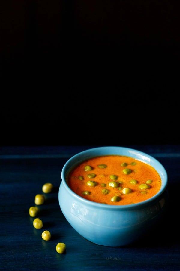 matar masala, matar masala recipe, green peas curry recipe