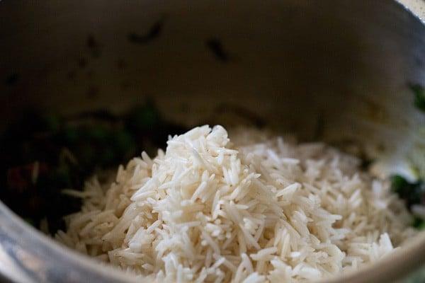 rice for methi pulao recipe