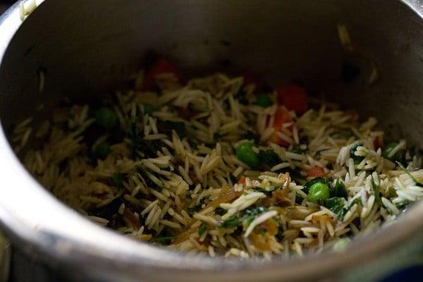 sauteing methi pulao recipe