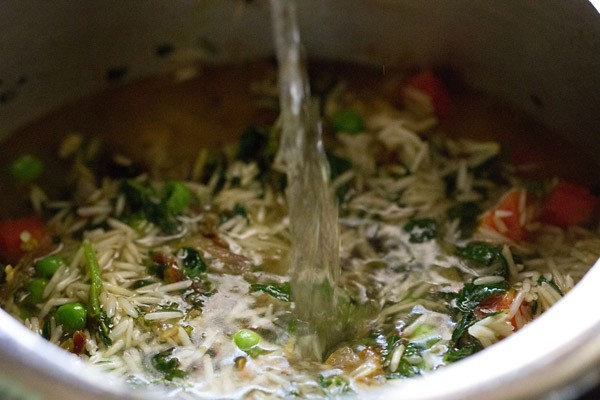 water for methi pulao recipe