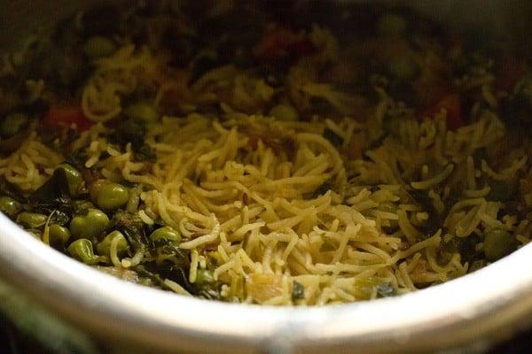 cooked methi pulao recipe