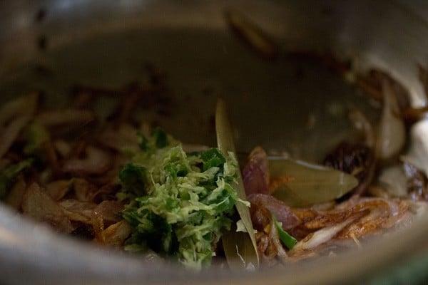 paste for methi pulao recipe