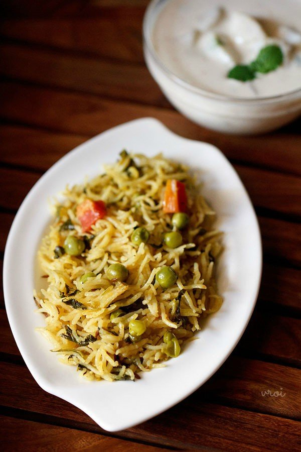 methi rice recipe, methi pulao, methi pulao recipe