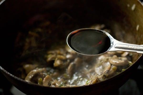 soy sauce for mushroom noodles recipe
