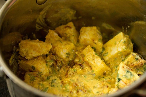 add marinated paneer