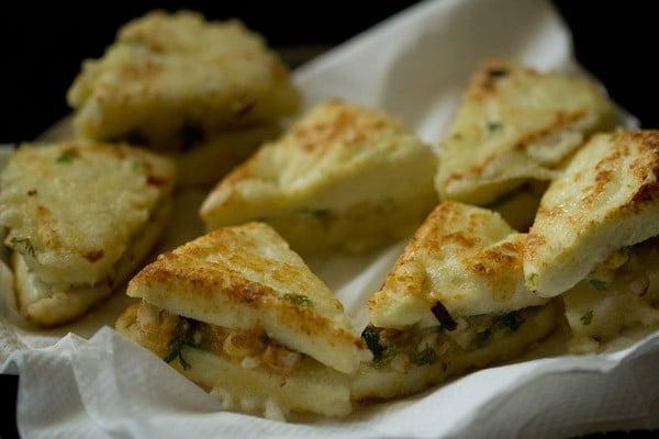 fried paneer sandwiches for paneer pasanda recipe