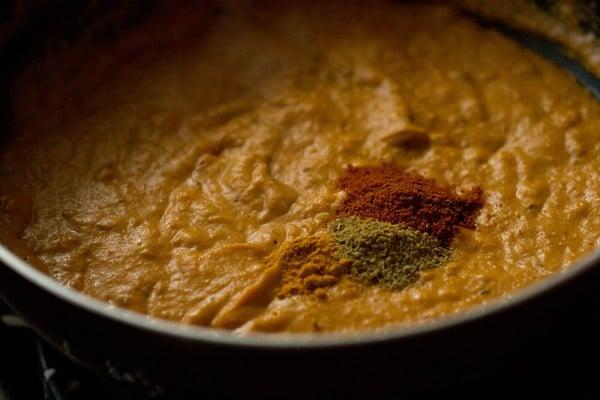 spices for paneer pasanda recipe