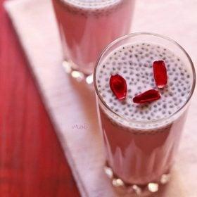 rose milk recipe, rose milk shake recipe